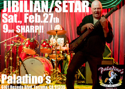 Saturday Night! February 27, 2016 at Paladino's in Tarzana!