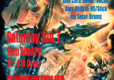 Saturday, Jan 7, 2017, 9pm – Paladino's, Tarzana, CA, Purposeful Porpoise Featuring JIBILIAN/SETAR!!